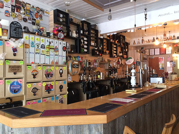 Craft beer and cider at Pestle and Mortar in Hinckley